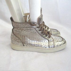 CHRISTIAN LOUBOUTIN Python Leather Hi-Top Sneaker